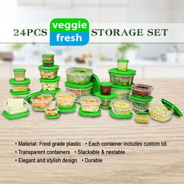 24 Pcs Veggie Fresh Storage Set