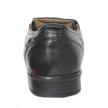 Delize Leather+Canvas Formal Shoes 25692-Black