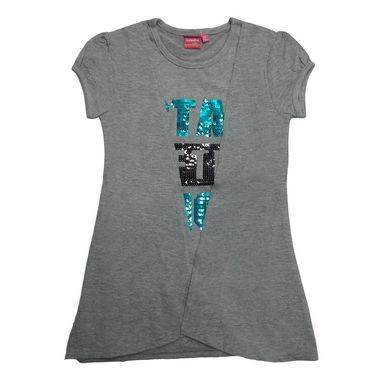 Tomato 28 Grey Casual T-Shirt for Girl's