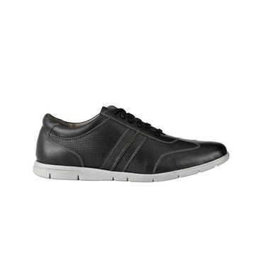 Delize Leather Casual Shoes 29342-Black