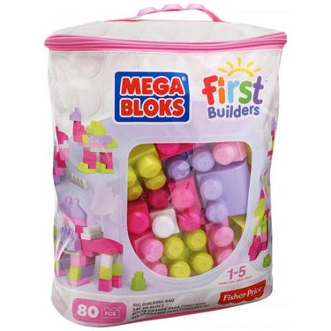 Fisher Price First Builders Big Building Bag Pink CYP72