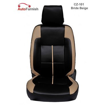 Autofurnish (CZ-101 Bride Beige) Toyota Etios Leatherite Car Seat Covers-3001231