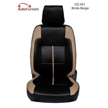 Autofurnish (CZ-101 Bride Beige) Toyota Innova New 7S Captain Leatherite Car Seat Covers-3001240