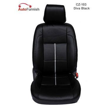 Autofurnish (CZ-103 Diva Black) Honda Brio Leatherite Car Seat Covers-3001526
