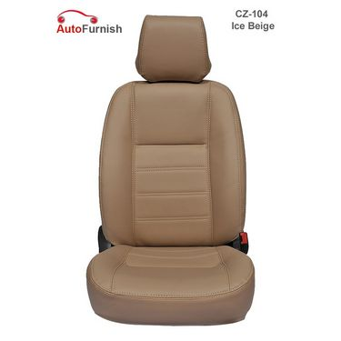 Autofurnish (CZ-104 Ice Beige) Chevrolet Aveo Yuva 2007-13 Leatherite Car Seat Covers-3001714