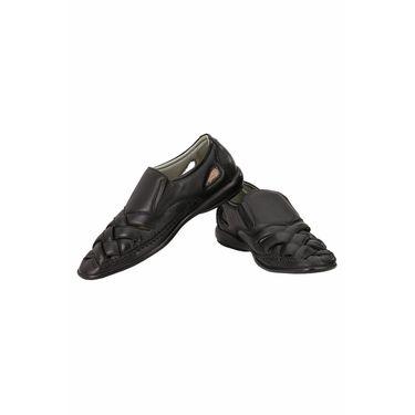 Delize Leather Sandals 3006-Black