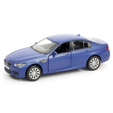 RMZ BMW M5 Matte Blue Pullback Diecast Toy Car