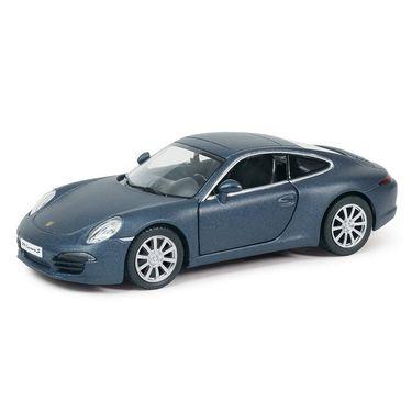 RMZ Porsche 911 Carrera S Matte Dark Blue Pullback Diecast Toy Car