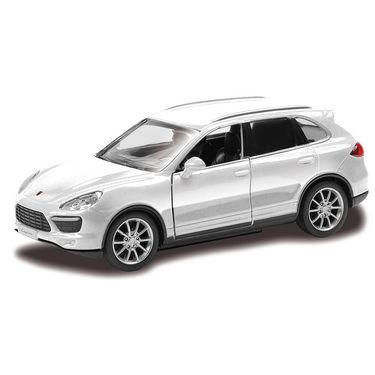 RMZ Porsche Cayenne Turbo White Pullback Diecast Toy Car