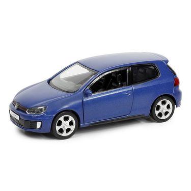 RMZ Volkswagen Golf GTI Matte Blue Pullback Diecast Toy Car