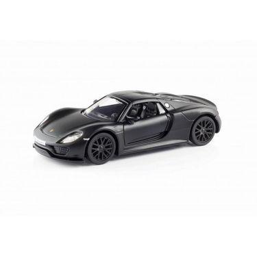 RMZ Porsche 918 Spyder Matte Black Pullback Diecast Toy Car