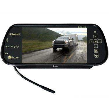 Bluei - Car Lcd Tft Usb Mp3 Mp4 Mp5 Player Rear View Mirror Monitor- Black