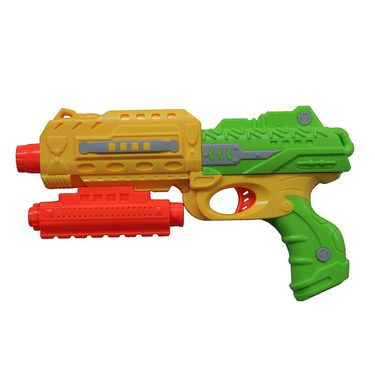 Kids Shooting Toy Gun Kit - 200 Silicon Balls, 3 Foam Darts, Target, Eye  Gear - Yellow