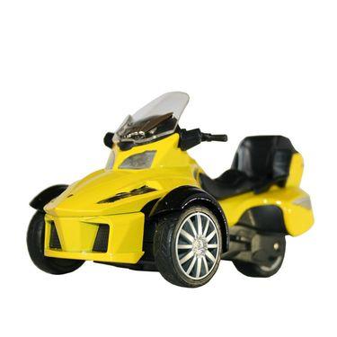 3-Wheel ATV Die Cast Metal Bike Toy For Growing Kids - Yellow