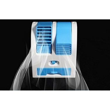 AutoSun Mini Fan & Portable Dual Bladeless Small Air Conditioner Water Air Cooler Powered by USB & Battery Use of Car/Home/Office