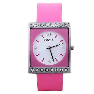 Adine Square Dial Analog Wrist Watch For Women_46pw023 - White