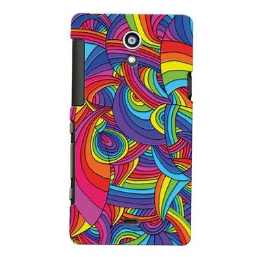 Snooky Digital Print Hard Back Case Cover For Sony Xperia T Lt30p Td12365