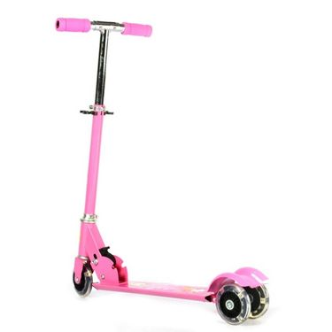 Kids Three Wheel Foldable Mini Scooter - Pink