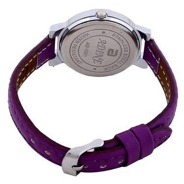 Adine Round Dial Analog Wrist Watch For Women_51pp031 - Purple