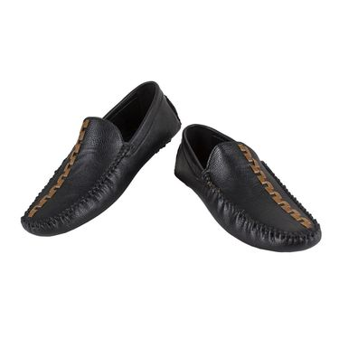 Yellow Tree Synthetic Leather Loafers Shoes 645-Brown