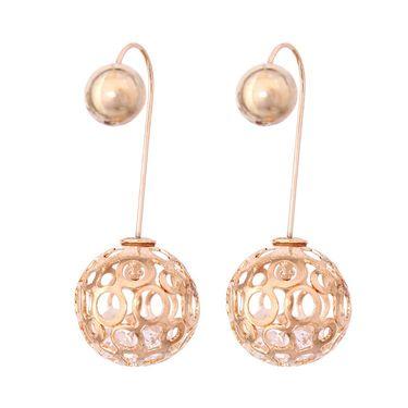Vendee Fashion Austrian Diamond Musical Earrings - Golden _ 8619