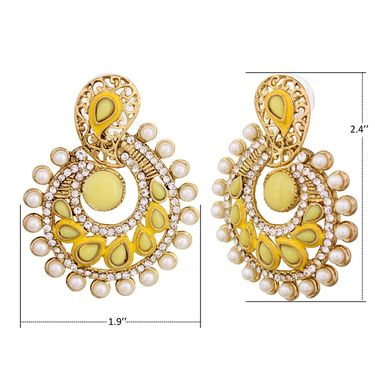 Vendee Fashion Stylish Earrings - Yellow