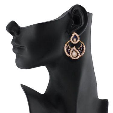 Vendee Fashion Stylish Earrings - Blue