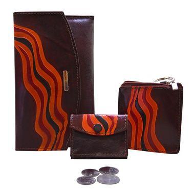 Arpera Genuine Leather Clutch 88A-2F -Brown