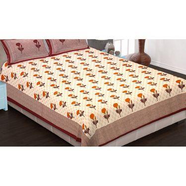 Set of 6 King Size Cotton Jaipuri Sanganeri Printed Bedsheets With 12 Pillow Covers-B6C6