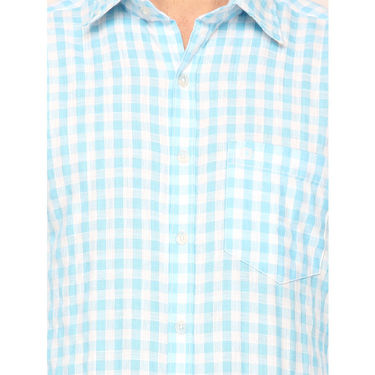 Crosscreek Full Sleeves Cotton Casual Shirt_303 - Blue