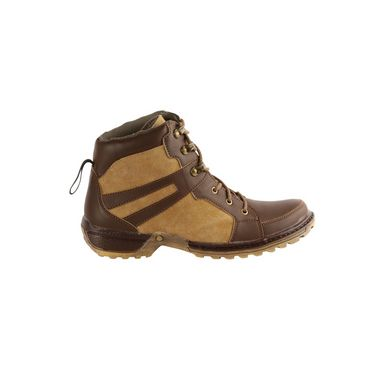 Bacca bucci Faux Leather Boots 966 - Brown & Tan