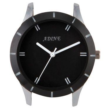 Adine Round Dial Analog Watch For Men_Ad1006 - Black