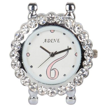 Adine Analog Round Dial Watch For Women_AD110013 - White