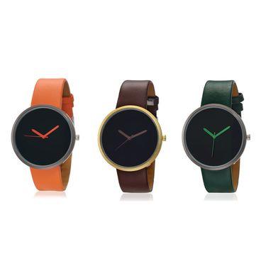 Pack of 3 Ultra Slim Japanese Quartz Unisex Watches_Adn114