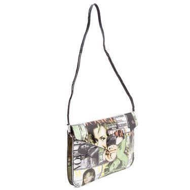Arisha Leather Sling Bag AE23  -Multicolor