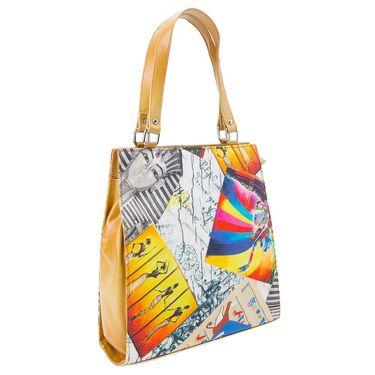 Arisha Leather Handbag AE37 -Yellow