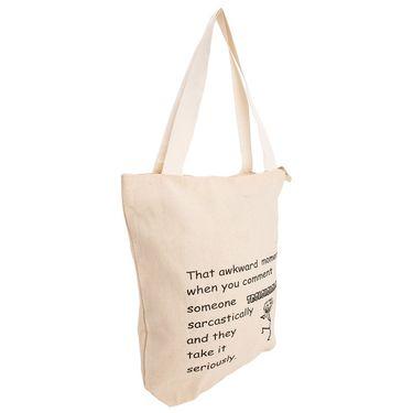 Arisha Cotton Khadi Handbag AE40f -Cream