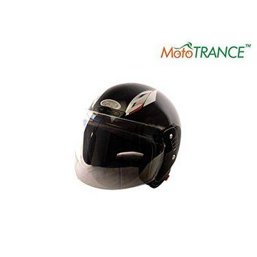 Mototrance FGN Open Face Helmet (Black)