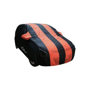 Autofurnish Stylish Orange Stripe Car Body Cover For Chevrolet Aveo U-VA -AF21126