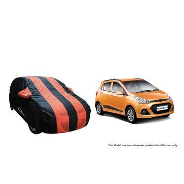 Autofurnish Stylish Orange Stripe Car Body Cover For Hyundai Grand i10 -AF21133