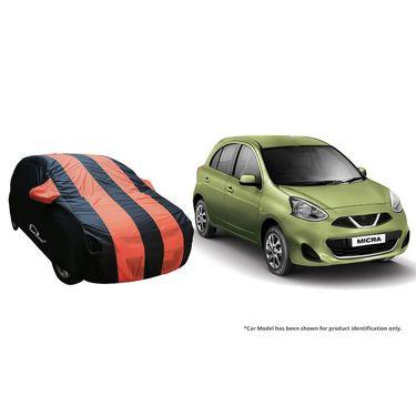 Autofurnish Stylish Orange Stripe Car Body Cover For Nissan Evalia  -AF21138