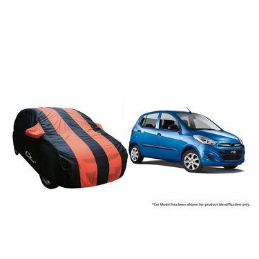 Autofurnish Stylish Orange Stripe Car Body Cover For Hyundai i10  -AF21192
