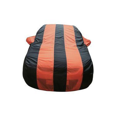 Autofurnish Stylish Orange Stripe Car Body Cover For Tata Manza  -AF21232