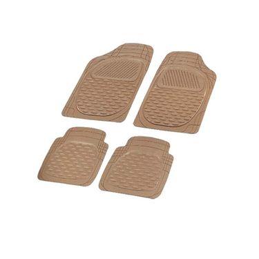 Autofurnish Universal Car Floor Mats (Beige) Set of 4