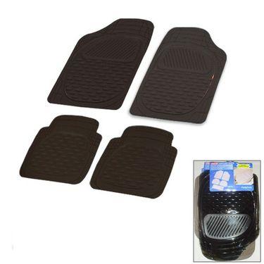 Autofurnish (Imported) Universal Car Floor Mats (Smoke Black) Set of 4