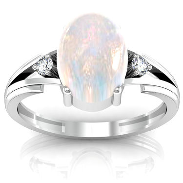 Ag Real Diamond Kirti Ring_AG014w
