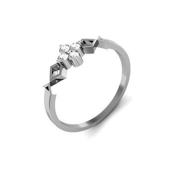 Ag Real Diamond Katrina Ring_AG0014w