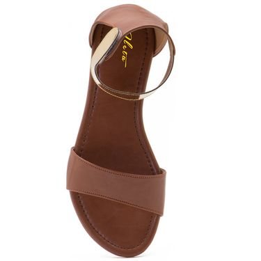 Aleta Synthetic Leather Womens Flats Alwf0116-Tan