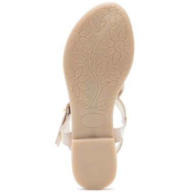 Aleta Synthetic Leather Womens Flats Alwf0916-Beige
