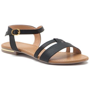 Aleta Synthetic Leather Womens Flats Alwf1016-Black